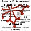 Cants e contes 13 Septembre 2014